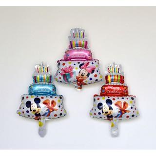米奇米妮蛋糕氣球 三層蛋糕 鋁箔氣球 派對 鋁膜氣球 生日派對 宴會 立體造型氣球 彩色氣球 慶生 立體氣球 造型氣球