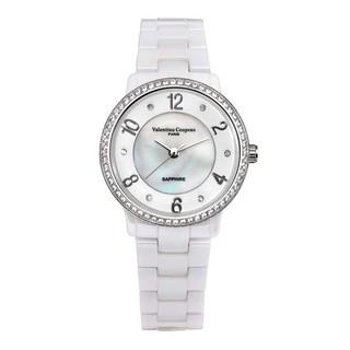 ⌚ 61270G-4 璀璨陶瓷手錶手表日本原裝機芯藍寶石水晶鏡片范倫鐵諾古柏 Valentino Coupeau