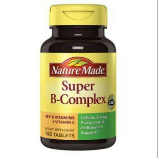 {櫻桃紅}萊萃美 Nature Made Super B-Complex 超級維生素B群+維他命C+葉酸(140錠)