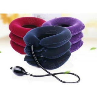 頸椎牽引器 復健器 充氣式 家用醫療 矯正護頸 全絨