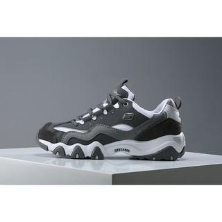 Skechers斯凱奇D'lites2二代熊貓鞋EXO同款 韓流風百搭時尚男女鞋 黑灰白99999