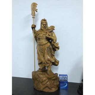 木雕關公藝品擺飾