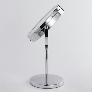 LED化妝鏡 7寸臺式梳妝鏡 雙面珠寶櫃臺梳妝鏡 3倍放大化妝鏡 高檔高清鏡面化妝鏡 360度旋轉鏡子