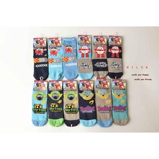(實拍)【PEILOU貝柔】Super Wings萊卡止滑小童短襪