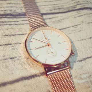 Knot玫瑰金米蘭帶錶