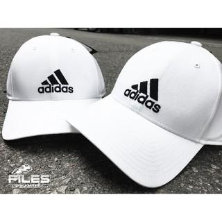 Files - ADIDAS Performance 3-Stripes Cap 白 黑字 鴨舌帽 硬挺 可調式 男女