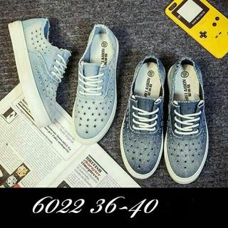 現貨降價 有實拍❤️韓系 熱銷 單寧 牛仔 洞洞 透氣 厚底 平底鞋 懶人鞋 深藍色 淺藍色