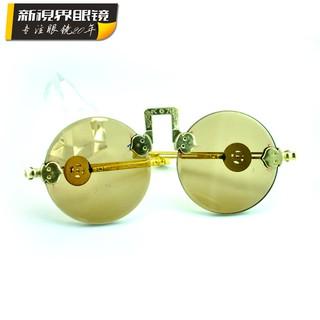 圓形防古水晶眼鏡平鏡 太子水晶眼鏡 古董眼鏡生產