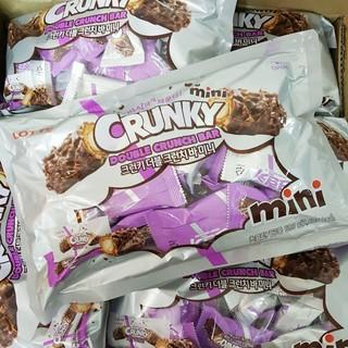 150 樂天 CRUNKY Mini 雙層捲心酥 榛果巧克力棒  500g 整袋/25入 LOTTE 韓國原裝代購