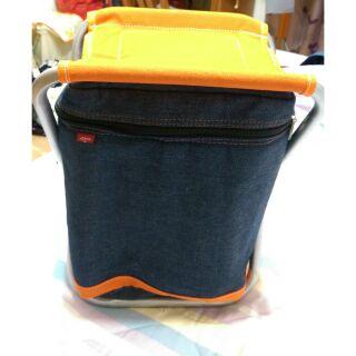 Levi's保溫袋保冷袋摺疊椅可當背包斜背ㄝok(3用包)