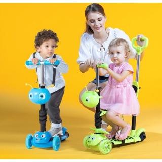 2017新款瑞士幼兒兒童三合一 五合一 閃光 發光輪 音樂升降造型滑板車 滑步車 迎接夏天