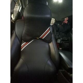 車用 全新正小羊皮頭枕+腰靠