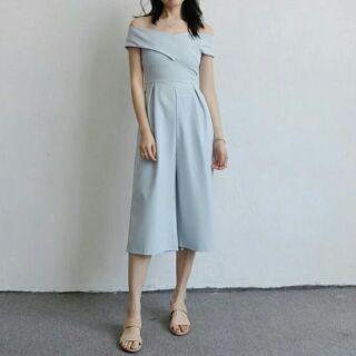 轉賣。平口連身褲%23謝師宴%23婚禮穿搭-淺藍