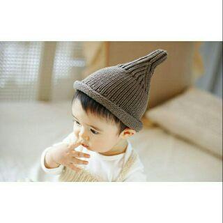 現貨韓國 小奶嘴帽 帽子 寶寶帽 針織帽 套頭帽 嬰兒帽 兒童帽