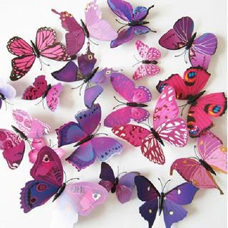 3D蝴蝶貼紙設計牆壁貼花裝飾
