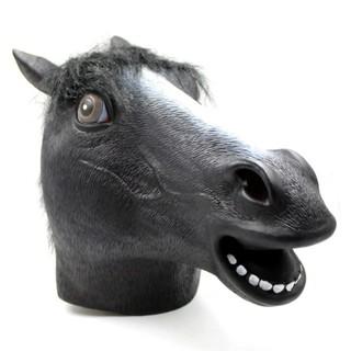 黑色馬頭面具 萬聖節/馬面具/舞會/扮演/動物頭套/犬馬君/乳膠面具/馬頭面具/馬頭套/趣味/搞笑 現貨 Q84