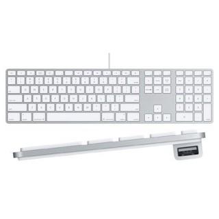 中文版注音版 蘋果APPLE A1243/MB110LLA USB有線鍵盤 數字小鍵盤 薄 好按 簡易包裝 8成新