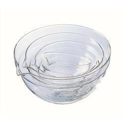 【霏霓莫屬】日本 HARIO 耐熱玻璃調理碗4入組 烘焙 料理碗 備料碗 (刻度)