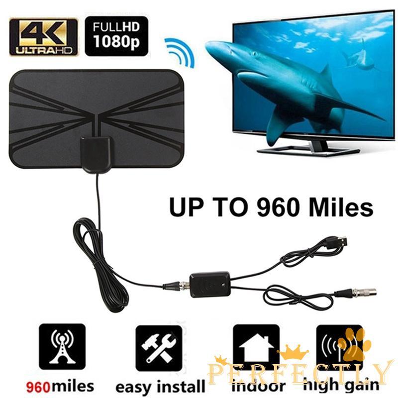 ✨QDA-960英里範圍天線電視數字高清Skywire天線數字高清電視室內4K
