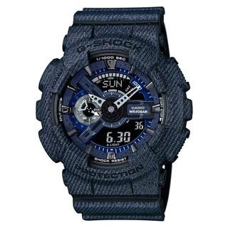 CASIO 卡西歐 G-SHOCK  牛仔單寧潮流時尚運動腕錶/GA-110DC-1A