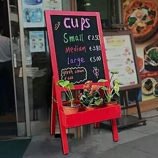 【促銷】立式裝飾花架螢光黑板/商場花店開業廣告板/促銷活動宣傳板/菜單板/告示牌/彩繪板/廣告招牌/展示架