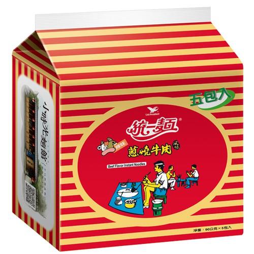 統一麵 蔥燒牛肉風味 90g (5入)/袋【康鄰超市】