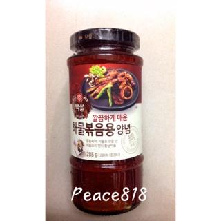 韓國 CJ旗下BEKSUL 辣炒海鮮 辣炒魷魚 調味醬 285g