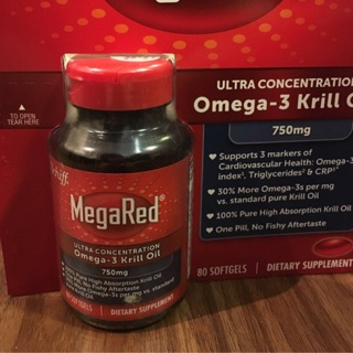 美國大牌 Schiff MegaRed Krill Oil 高單位750mg Omega-3 磷蝦油膠囊 80顆
