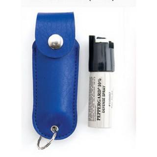 【軍武門】原裝進口 梅西 MACE 80380 藍皮套水柱噴器(附皮套/鑰匙圈)防狼/防身