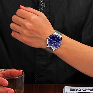 WWOOR/握愛男士網帶日曆手錶 男裝 WWOOR 品牌休閒防水手錶不銹鋼網帶簡單日期石英腕表