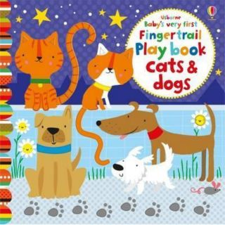 Usborne fingertrail play book cats &dogs