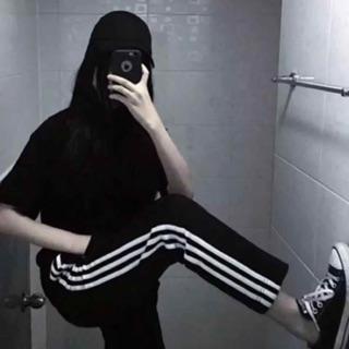 韓國chic縮口直筒鬆緊運動褲