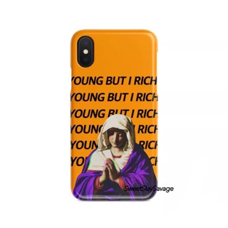 """""""YOUNG BUT I RICH"""" iPhone case"""