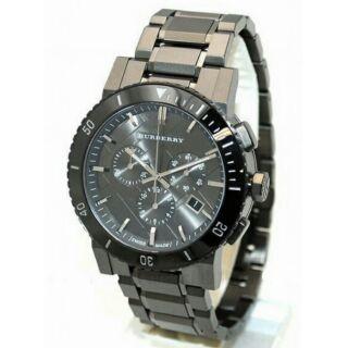 BURBERRY Heritage  英倫陶瓷計時腕錶  鐵灰  42mm  BU9381