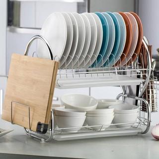 碗架 廚房置物架不銹鋼色放碗筷架收納架