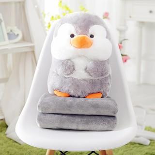 ❤️可愛企鵝抱枕❤️ 【美國熱銷】禮物首選 動物玩偶 秋冬必備 小毯子 抱枕毯 毯子玩偶 娃娃被 企鵝娃娃 企鵝玩偶