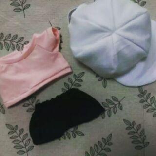 Bts 防彈少年團 夏日套裝 exo got7 娃衣 20cm 衣服 套裝 娃娃 玩偶 兒子 帽子