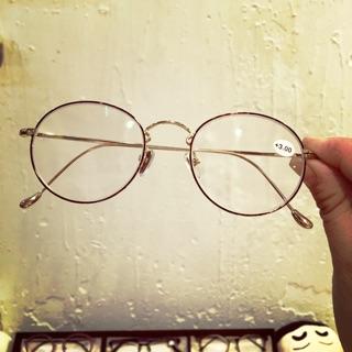 質感金圓框老花眼鏡