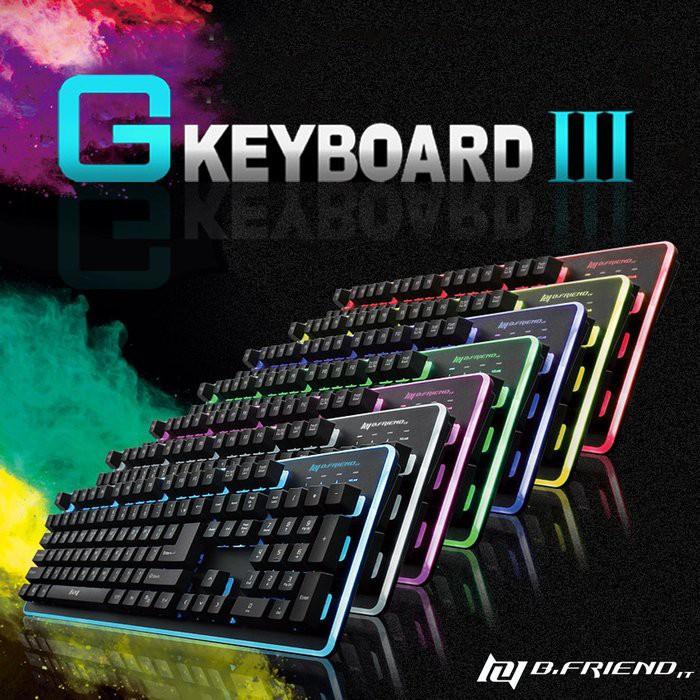 『嘉義U23C 全新開發票』B.FRIEND GK3 七色發光 懸浮 電競 類機械式鍵盤