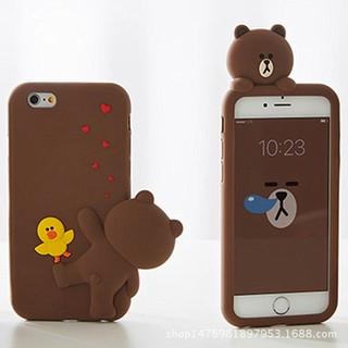 iPhone Line Friend熊大矽膠手機保護套 7 plus Line 熊大