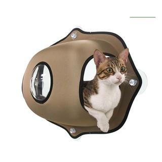 BABY寵貓館《日本K&H》全罩玻璃吸盤貓窩 貓窩 掛床 兩種米色/綠色