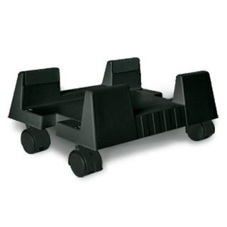 直立式主機立架(塑)+輪黑色,旋轉移動電腦架/PC主機架/移動主機架