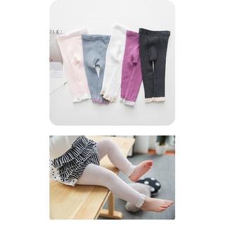 ❥春夏透氣九分褲❥兒童褲襪❥幼兒打底褲❥粉紫白3 色百搭~️寶寶褲襪❥寶寶打底襪❥♂