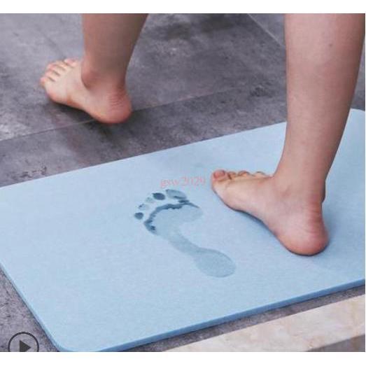 ~ 秒發~矽藻土腳墊吸水速乾矽藻泥腳墊臥室地毯踏墊床邊地墊防滑天然硅藻泥腳墊衛生間浴室防滑墊硅藻