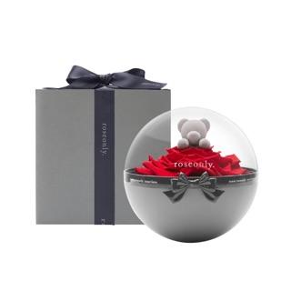 roseonly王俊凱同款永生玫瑰熊禮盒進口紅玫瑰小熊花球禮盒禮物(預購中)