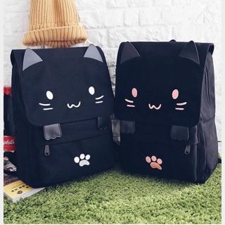 *Neko mimi*日韓 帆布書包 貓咪包包 可愛雙肩包 韓版超萌學生後背包