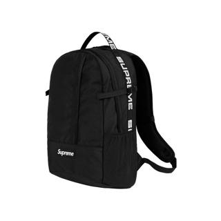 SUPREME 後背包 44th 反光 backpack 黑色 紅色