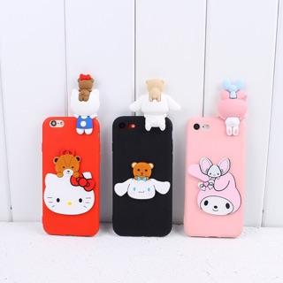 YA手機殼小米3/6/NOTE2/5Splus/MAX2/MIX2 卡通立體Kitty貓 美樂蒂 大耳狗立體手機殼