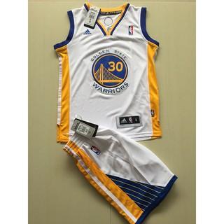 現貨 NBA球衣 勇士隊 庫里 30號 CURRY 柯瑞 背心 籃球服 運動上衣 套裝 兒童 童裝 白色