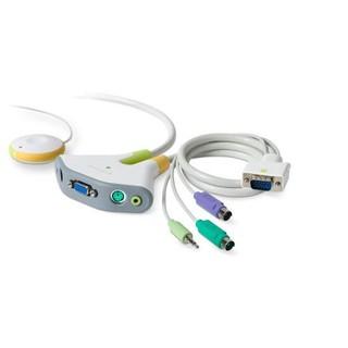 全新 無包裝 BELKIN 2-port PS/2 音效 帶線式KVM切換器 f1dg102p